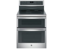 "GE Profile 30"" 6.6 cu. ft. Free-Standing Electric Double Oven Convection Range in Stainless Steel PB960SJSS"