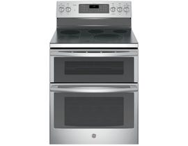 "GE Profile 30"" 6.6 cu. ft. Free-Standing Electric Double Oven Range in Stainless Steel PCB980SJSS"