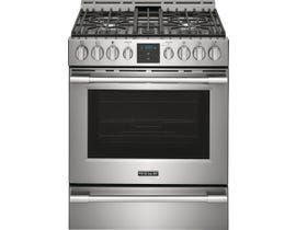 Frigidaire 30 inch 5.6 cu. ft. Front Control Gas Range with Air Fry in Stainless Steel PCFG3078AF
