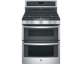 GE Profile 30 Inch Free Standing Gas Range in Stainless Steel PCGB960SEMSS