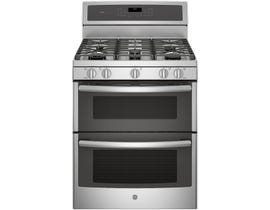 "GE Profile 30"" 6.8 cu. ft. Free-Standing Double Oven Gas Range in Stainless Steel PCGB980ZEJSS"