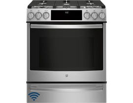 GE Profile 5.6 CU Ft. Single Oven Gas Range in Stainless Steel PCGS930SELSS