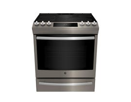 GE Profile 5.3 Cu Ft Slide In Front Electric Range in Slate PCS940EMES
