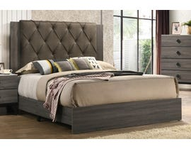 Flair Penrith Series Upholstered Queen Bed in Grey