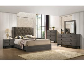 Flair Penrith Series 6pc King Bedroom Set in Grey