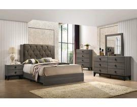 Flair Penrith Series 6pc Queen Bedroom Set in Grey