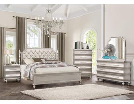 PERLA 6-PIECE QUEEN BEDROOM SET IN CHAMPAGNE