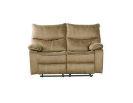 Flair Peyto Collection Fabric Reclining Loveseat in Sand PEYTO-SFB