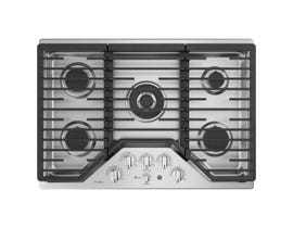 "GE Profile 30"" Built-In Gas Cooktop in Stainless Steel PGP9030SLSS"