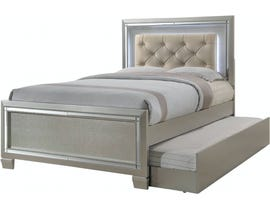 High Society Platinum Series Youth Bed w/Optional Trundle in Embossed Champagne LT111