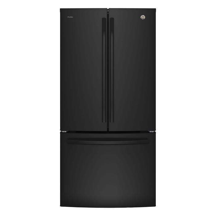 GE Profile 33 inch 24.8 cu.ft. French Door Bottom-Mount Refrigerator Black PNE25NGLKBB