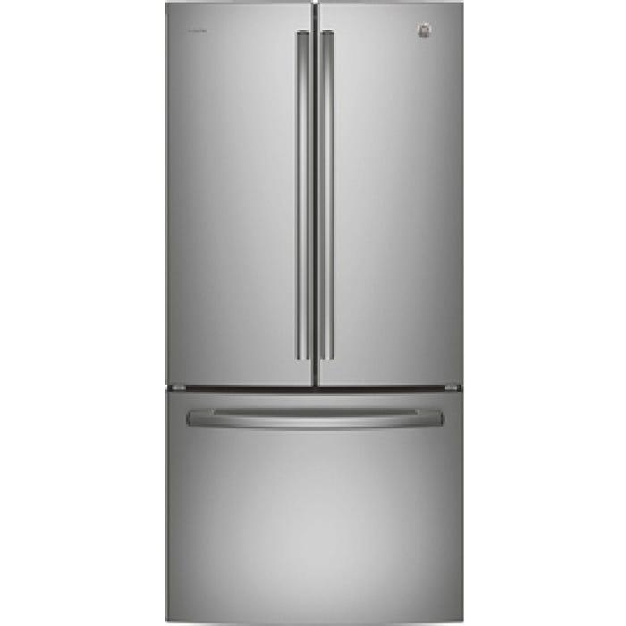 GE Profile 33 inch 24.8 cu.ft. French Door Bottom-Mount refrigerator stainless steel PNE25NSLKSS