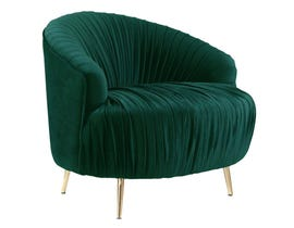 High Society Princeton Series Accent Chair in Emerald 848