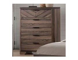 L-Style Furniture Vibrant Grain 5 Drawer Chest in Brown C7309A