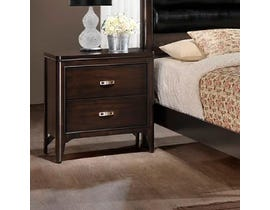 Prestige Wooden Night Stand in Dark Brown