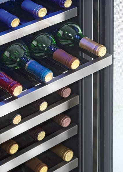Danby 19 5 inch 4 03 cu ft wine cooler in stainless DWC458BLS