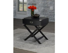 Brassex Soho Collection Cross Base Wood Accent Table in Black 171010