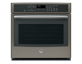 GE Profile 30 inch 5.0 cu.ft. Electric Self-Cleaning Convection Single Wall Oven in slate PT7050EHES