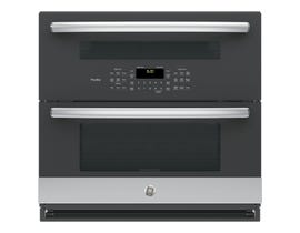 """GE Profile 30"""" 5.0 cu. ft. Built-In Twin Flex Convection Wall Oven in Stainless Steel PT9200SLSS"""