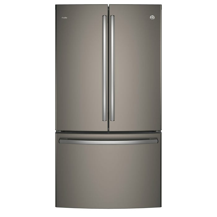 GE Profile 36 inch 23.1 Cu. Ft. Counter Depth French-Door Refrigerator with Internal Water Dispenser in slate PWE23KMKES