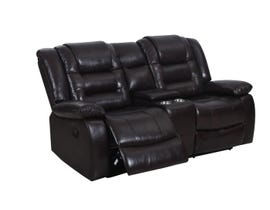 Vogue Anita Series Manual Reclining Loveseat with Console in Chocolate Brown PX2944L