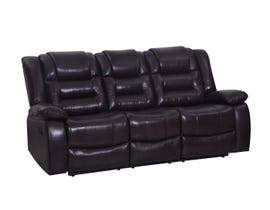 Vogue Anita Series Manual Reclining Leather Sofa in Chocolate Brown PX2944