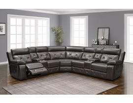 Vogue Series Leather Reclining Sectional in Dark Brown PX888L