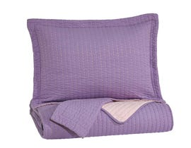 Signature Design by Ashley 3-Piece Full Coverlet Set in Lavender/Pink Q225023F