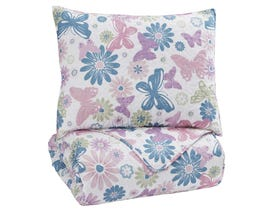 Signature Design by Ashley 2-Piece Twin Quilt Set in Multi Q318001T