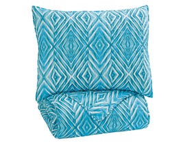 Signature Design by Ashley 2-Piece Twin Quilt Set in Turquoise Q319001T