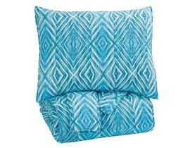 Signature Design by Ashley 3-Piece Full Quilt Set in Turquoise Q319003F