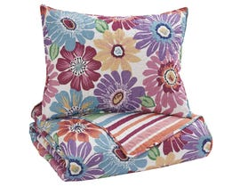 Signature Design by Ashley 2-Piece Twin Quilt Set in Multi Q345001T