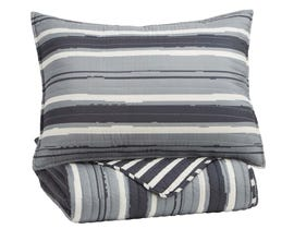 Signature Design by Ashley 2-Piece Twin Coverlet Set in Gray/Cream Q420001T