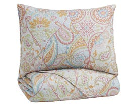 Signature Design by Ashley 2-Piece Twin Coverlet Set in Pink/Orange Q421001T