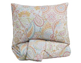 Signature Design by Ashley 3-Piece Full Coverlet Set in Pink/Orange Q421003F