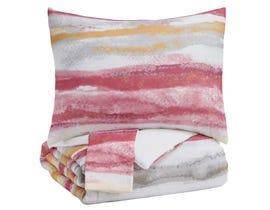 Signature Design by Ashley Comforter Set in Pink/Orange Q42700