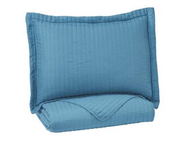 Signature Design by Ashley 2-Piece Twin Coverlet Set in Turquoise Q495001T