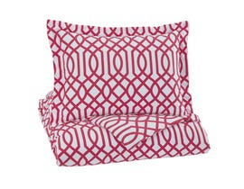 Signature Design by Ashley 2-Piece Twin Comforter Set in Fuchsia Q758041T