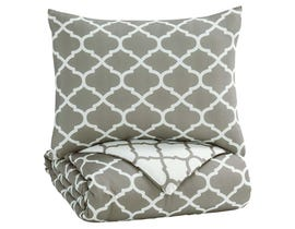 Signature Design by Ashley 2-Piece Twin Comforter Set in Gray/White Q790001T