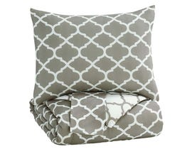 Signature Design by Ashley 3-Piece Full Comforter Set in Gray/White Q790003F