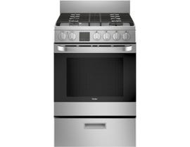 "Haier 24"" 2.9 cu. ft. Free-Standing Gas Convection Range in Stainless Steel QCGAS740RMSS"