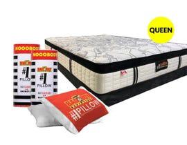 #1 Queen Size Pillows and Mattress Kit