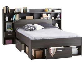 Primo International Brighton Chicago Series Double Bed with Bridge in Vulcano Oak 2907