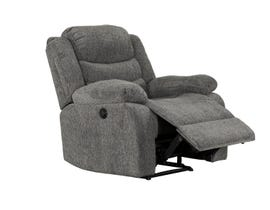 Primo International Roman Collection Fabric Power Recliner in Grey