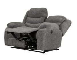 Primo International Roman Collection Fabric Power Reclining Loveseat in Grey
