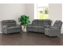 Primo International Roman Collection 3-Piece Fabric Power Reclining Living Room Set in Grey