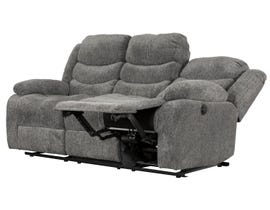 Primo International Roman Collection Fabric Power Reclining Sofa in Grey