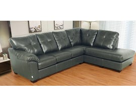 Flaca Leather Air RHF Sectional in Grey 6925