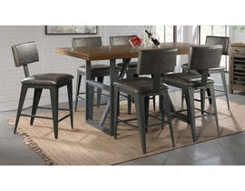 High Society Reno Series 7PC Pub Set in Distressed Light Brown
