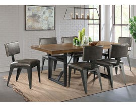 High Society Reno Series 7PC Dining Set in Distressed Light Brown